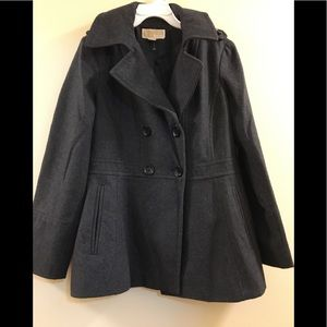 Michael Kors Wool Double Breasted Peacoat M